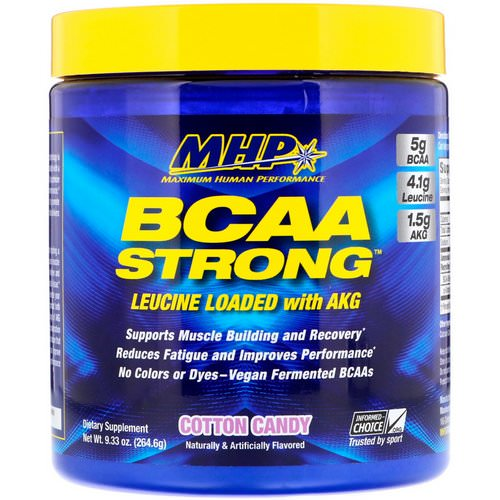 MHP, BCAA Strong, Cotton Candy, 9.33 oz (264.6 g) Review
