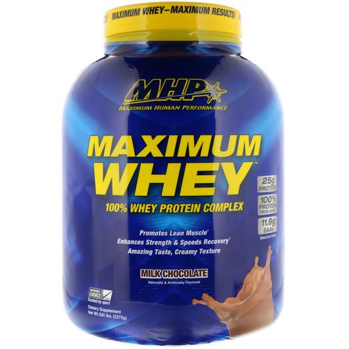 MHP, Maximum Whey, Milk Chocolate, 5.01 lbs (2275 g) Review