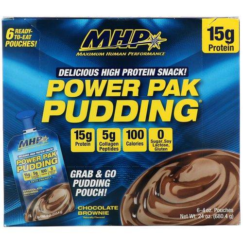 MHP, Power Pak Pudding, Chocolate Brownie, 6 Pouches, 4 oz (113.4 g) Review