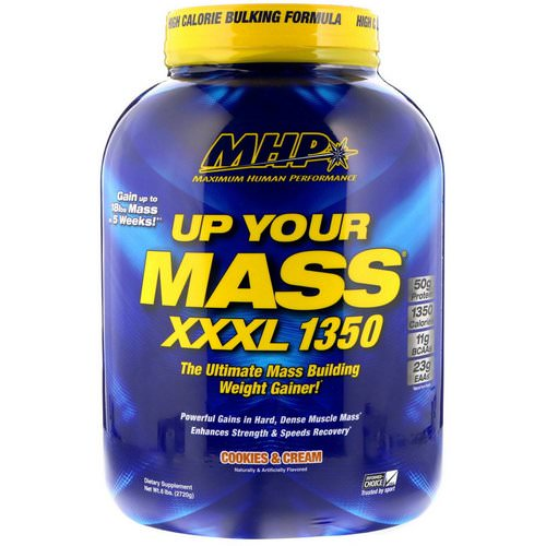 MHP, Up Your Mass XXXL 1350, Cookies & Cream, 6 lbs (2720 g) Review