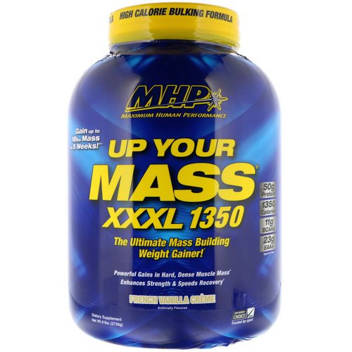 MHP, Up Your Mass, XXXL 1350, French Vanilla Creme, 6 lbs (2728 g) Review