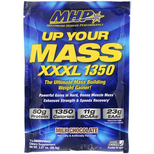 MHP, Up Your Mass, XXXL 1350, Milk Chocolate, 3.07 oz (86.9 g) Review