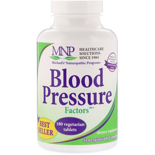 Michael's Naturopathic, Blood Pressure Factors, 180 Vegetarian Tablets Review