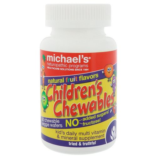 Michael's Naturopathic, Children's Chewables, Natural Fruit Flavors, 60 Chewable Veggie Wafers Review