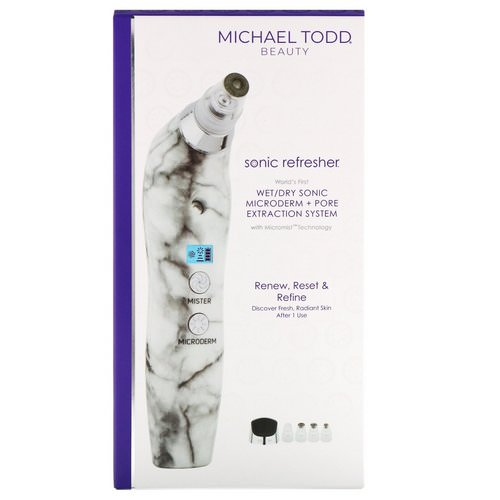 Michael Todd Beauty, Soniclear Petite, Antimicrobial Sonic Skin Cleansing System, White Marble, 5 Piece Kit Review