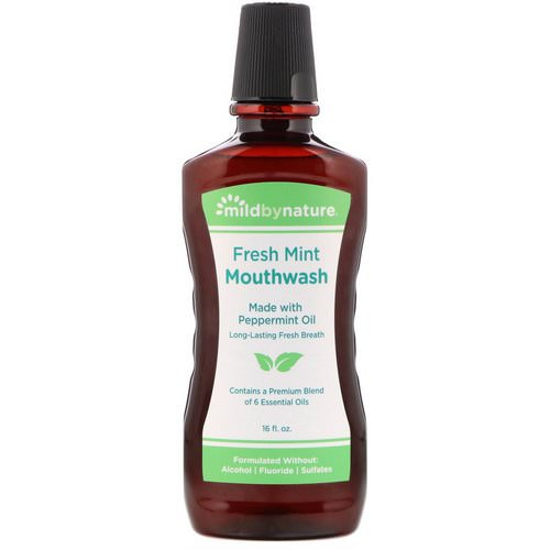 Mild By Nature, Mouthwash, Made with Peppermint Oil, Long-Lasting Fresh Breath, Fresh Mint, 16 fl oz Review