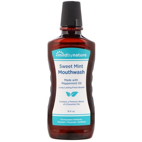 Mild By Nature, Mouthwash, Made with Peppermint Oil, Long-Lasting Fresh Breath, Sweet Mint, 16 fl oz Review