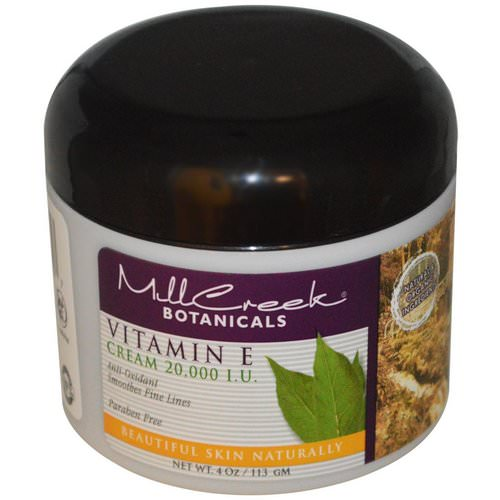 Mill Creek Botanicals, Vitamin E Cream, 20,000 IU, 4 oz (113 g) Review