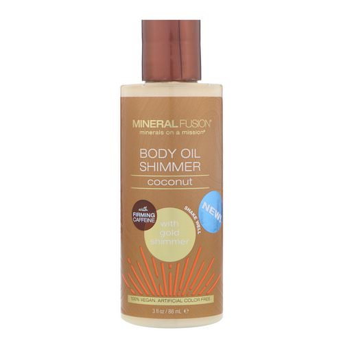 Mineral Fusion, Body Oil Shimmer, Gold Shimmer, 3 fl oz (88 ml) Review