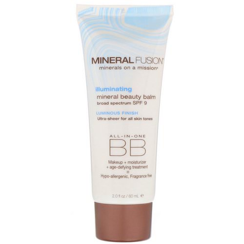 Mineral Fusion, Mineral Beauty Balm, SPF 9, Illuminating, 2.0 oz (60 ml) Review