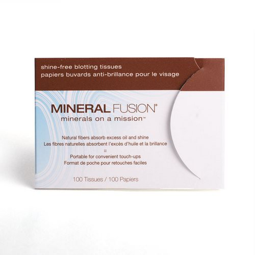 Mineral Fusion, Mineral Fusion, Shine-free, Blotting Tissues, 100 Tissues Review