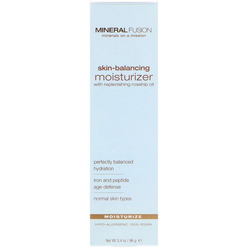 Mineral Fusion, Skin-Balancing Moisturizer, For Normal Skin Types, 3.4 oz (96 g) Review