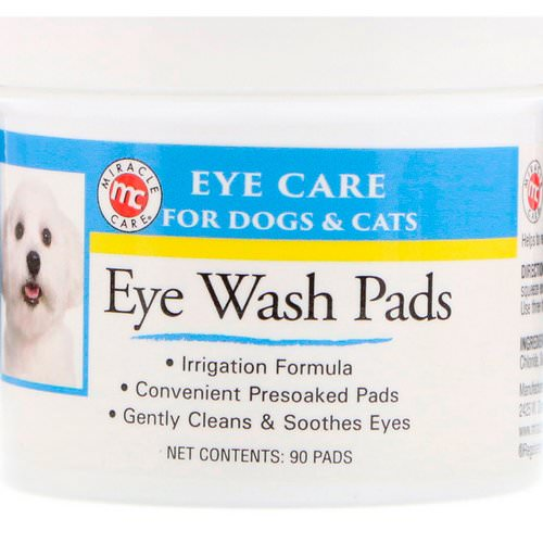 Miracle Care, Eye Care, Eye Wash Pads, For Dogs & Cats, 90 Pads Review