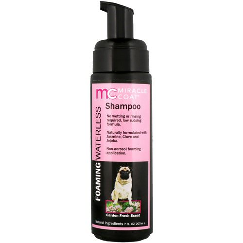 Miracle Care, Miracle Coat, Foaming Waterless Shampoo, For Dogs, Garden Fresh Scent, 7 fl oz (207 ml) Review