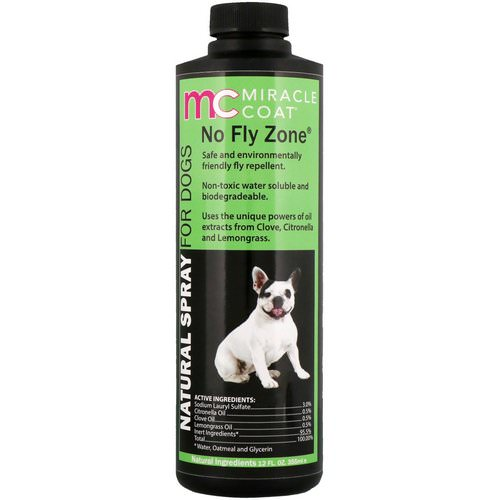 Miracle Care, Miracle Coat, Natural Spray For Dogs, No Fly Zone, 12 fl oz (355 ml) Review