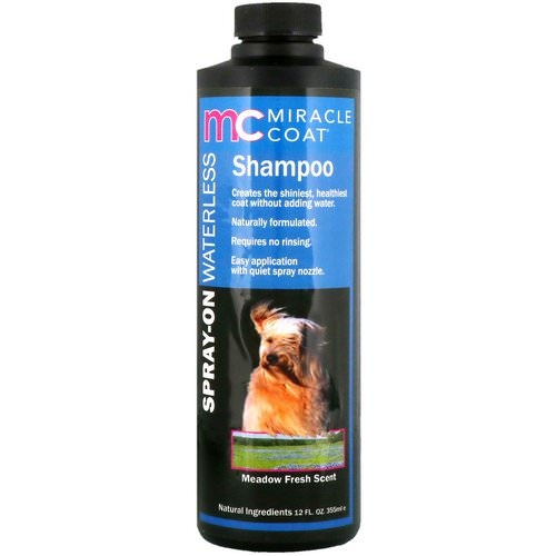 Miracle Care, Miracle Coat, Spray-On Waterless Shampoo, For Dogs, Meadow Fresh Scent, 12 fl oz (355 ml) Review