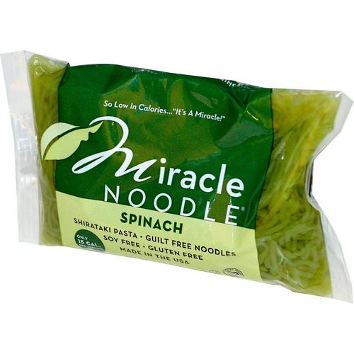 Miracle Noodle, Spinach, Shirataki Pasta, 7 oz (198 g) Review