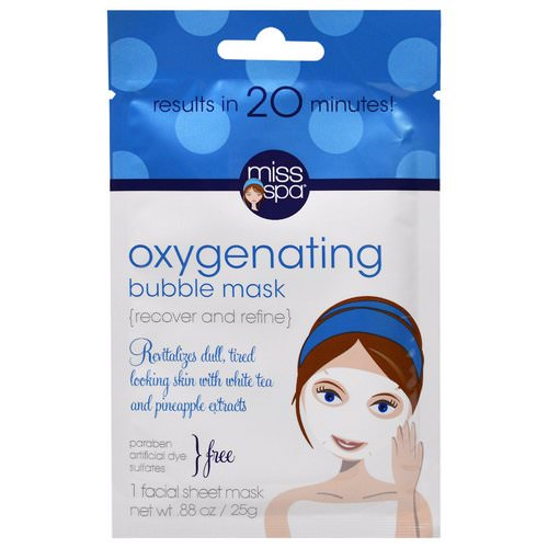 Miss Spa, Oxygenating Bubble Mask, 1 Facial Sheet Mask Review