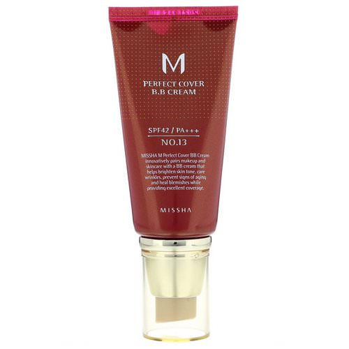 Missha, Perfect Cover B.B Cream, SPF 42 PA+++, No. 13 Bright Beige, 50 ml Review