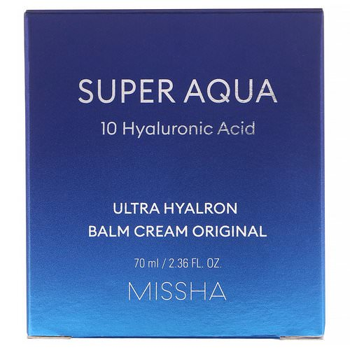 Missha, Super Aqua, Ultra Hyalron Balm Cream Original, 2.36 fl oz (70 ml) Review