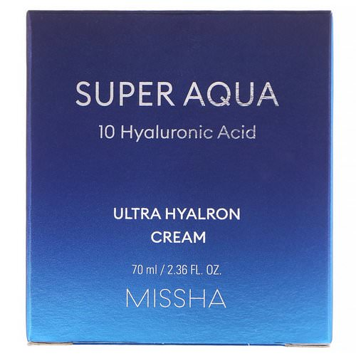 Missha, Super Aqua, Ultra Hyalron Cream, 2.36 fl oz (70 ml) Review