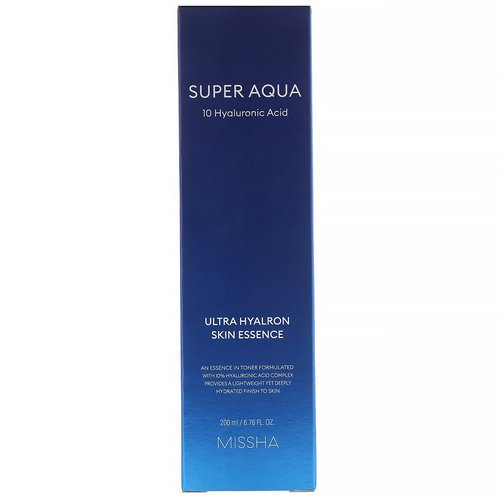 Missha, Super Aqua, Ultra Hyalron Skin Essence, 6.76 fl oz (200 ml) Review
