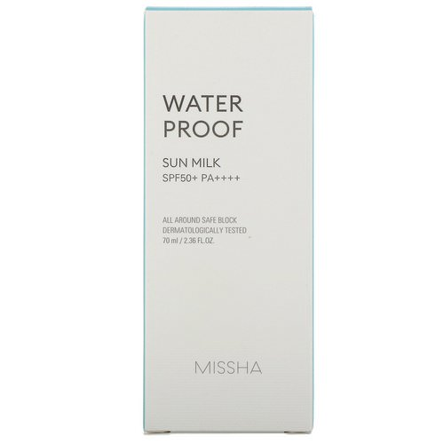 Missha, Waterproof Sun Milk, SPF 50+ PA+++, 2.36 fl oz (70 ml) Review