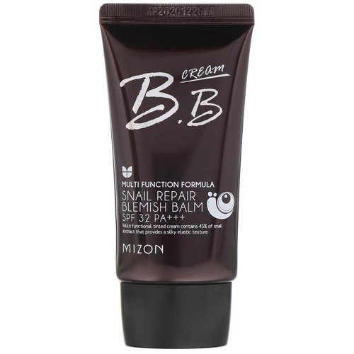 Mizon, BB Cream, Snail Repair Blemish Balm, SPF 32 PA+++, Rose Beige, 1.69 fl oz (50 ml) Review