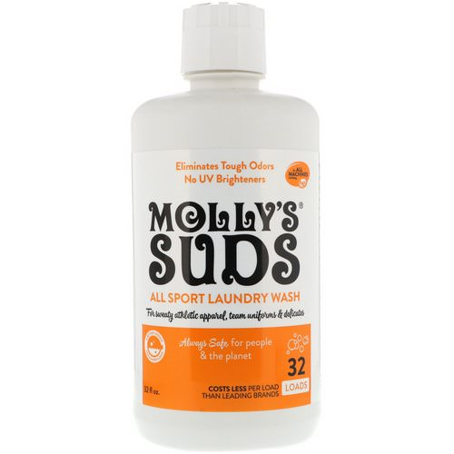 Molly's Suds, All Sport Laundry Wash, 32 fl oz (964.35 ml) Review