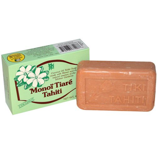 Monoi Tiare Tahiti, Coconut Oil Soap, Coconut Scented, 4.55 oz (130 g) Review