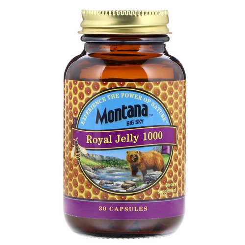 Montana Big Sky, Royal Jelly 1000, 30 Capsules Review