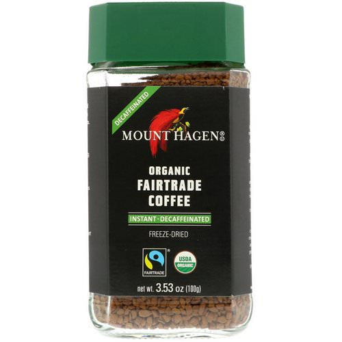 Mount Hagen, Organic Fairtrade Coffee, Instant, Decaffeinated, 3.53 oz (100 g) Review