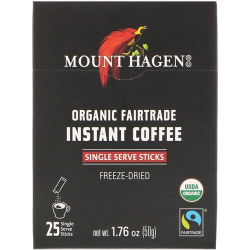 Mount Hagen, Organic Fairtrade Instant Coffee, 25 Single Serve Sticks, 1.76 oz (50 g) Review