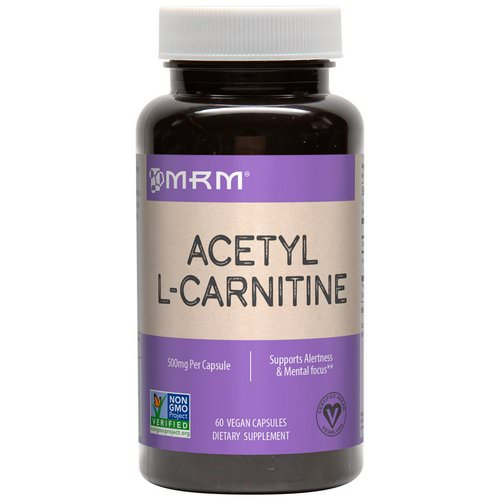 MRM, Acetyl L-Carnitine, 500 mg, 60 Vegan Capsules Review