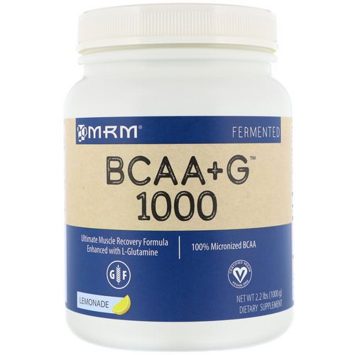 MRM, BCAA+G 1000, Lemonade, 2.2 lbs (1000 g) Review