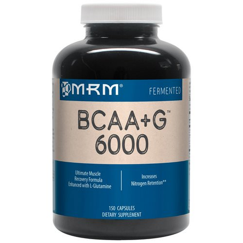MRM, BCAA+G 6000, 150 Capsules Review