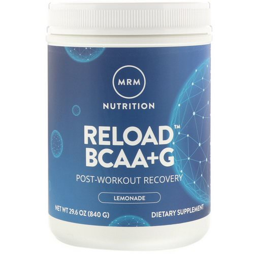 MRM, Reload BCAA + G, Post-Workout Recovery, Lemonade, 29.6 oz (840 g) Review