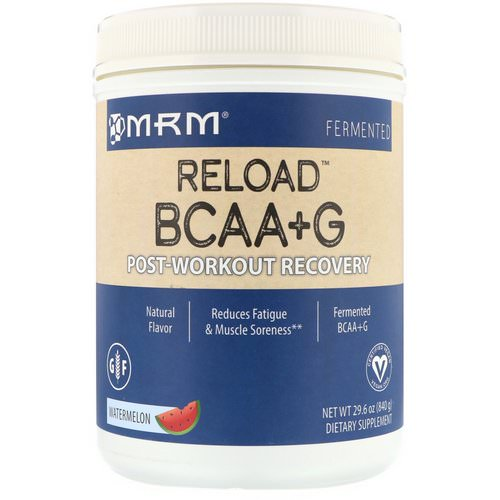 MRM, BCAA+ G Reload, Post-Workout Recovery, Watermelon, 1.85 lbs (840 g) Review