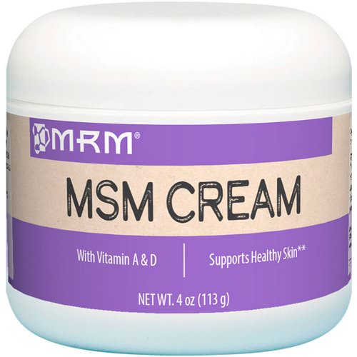MRM, MSM Cream, 4 oz (113 g) Review