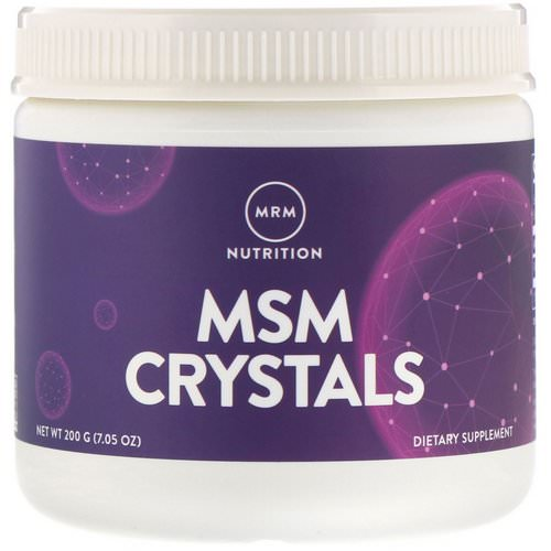 MRM, MSM Crystals, 1,000 mg, 7.05 oz (200 g) Review