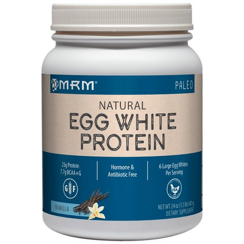 MRM, Natural Egg White Protein, Vanilla, 1.5 lbs (680 g) Review