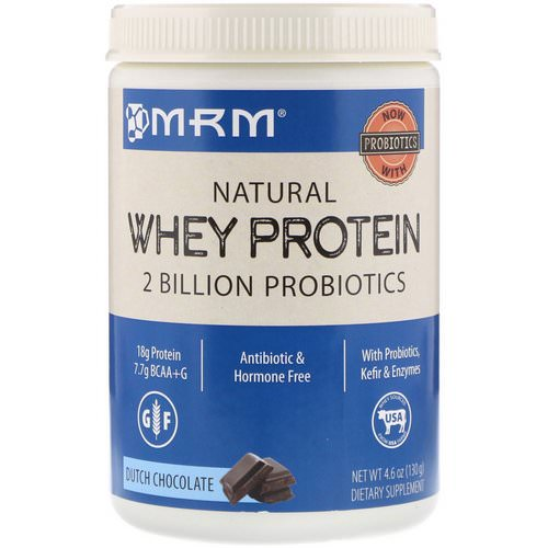 MRM, Natural Whey Protein, Dutch Chocolate, 4.6 oz (130 g) Review