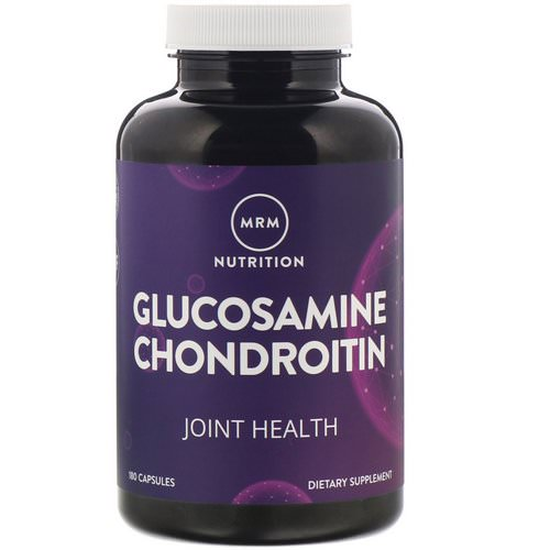 MRM, Nutrition, Glucosamine Chondroitin, 180 Capsules Review