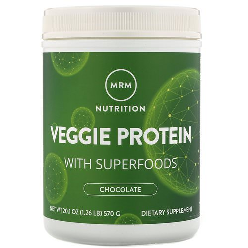 MRM, Nutrition, Veggie Protein with Superfoods, Chocolate, 1.26 lbs (570 g) Review