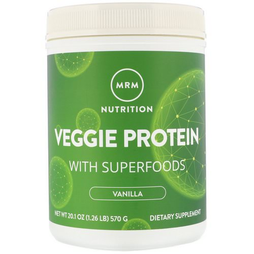 MRM, Nutrition, Veggie Protein with Superfoods, Vanilla, 1.26 lb (570 g) Review