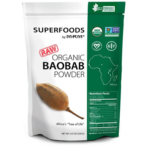 MRM, Raw Organic Baobab Powder, 8.5 oz (240 g) Review