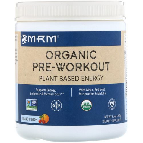 MRM, Organic Pre-Workout, Island Fusion, 8.5 oz (240 g) Review