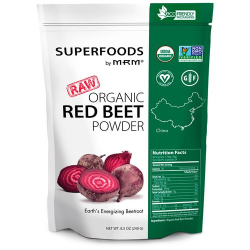 MRM, Raw Organic Red Beet Powder, 8.5 oz (240 g) Review