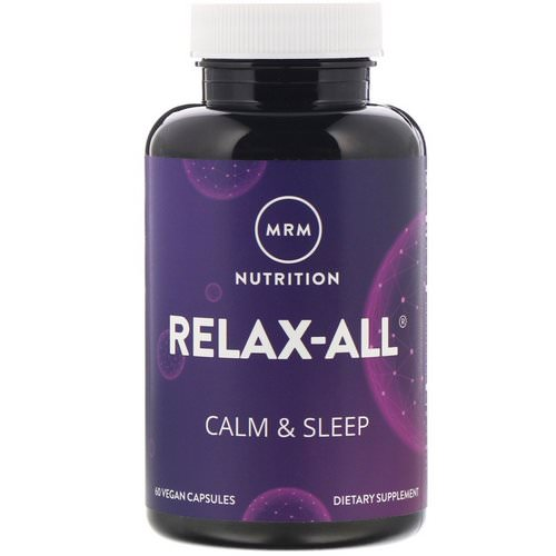 MRM, Relax-All, Calm & Sleep, 60 Vegan Capsules Review