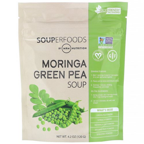 MRM, Superfoods, Moringa Green Pea Soup, 4.2 oz (120 g) Review